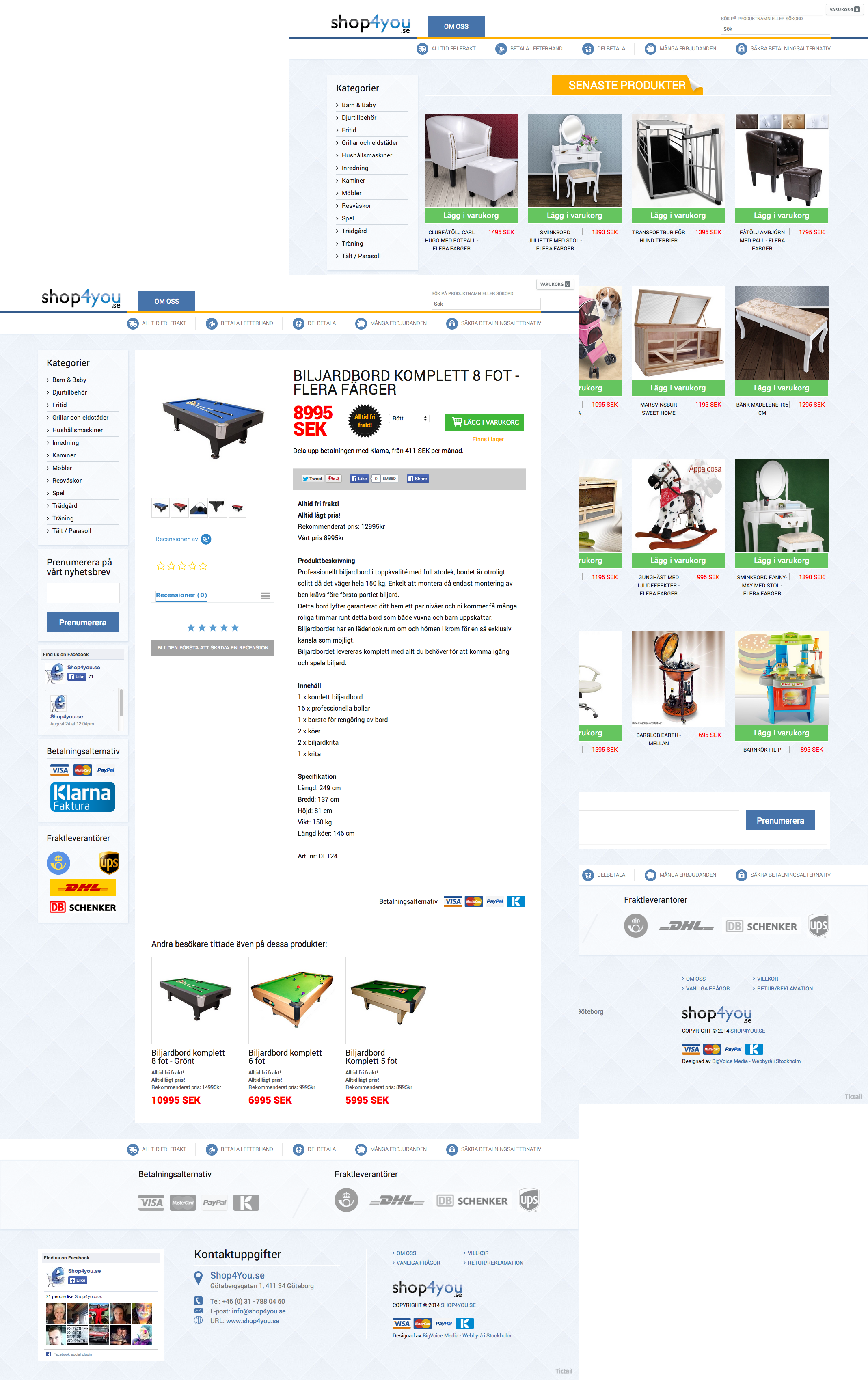 Webbutik för Shop4You referens shop4you coll